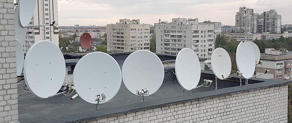 Установка супутникового телебачення в Києві та області!