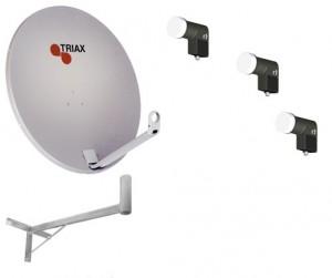 Комплект на 2 телевизора, Установка спутниковых антенн Киев